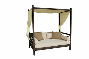 New-PE-Rattan-Wicker-Style-Outdoor-Bali-Sun-Bed-Sunbed-Canopy-Lounger-w-Cover