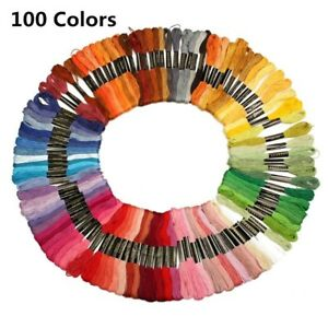 50-100-150-Colors-Embroidery-Thread-Hand-Cross-Stitch-Floss-Sewing-Skeins-Craft