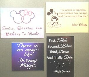 Smile Breathe Believe Magic Laughter Imagination Mouse Disney Mickey Age Magnet Ebay