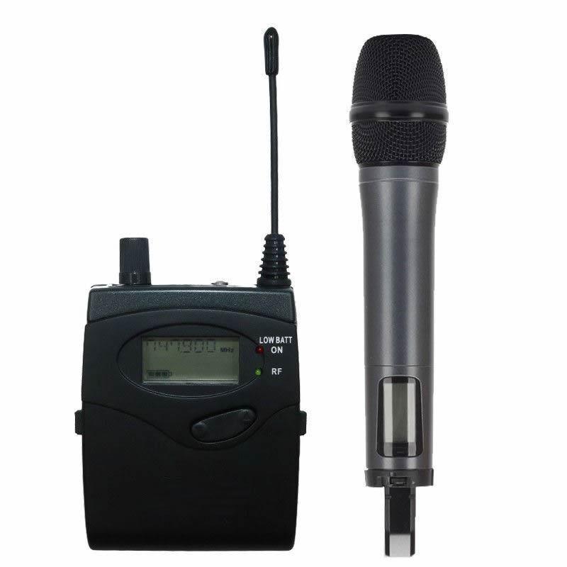 UHF Wireless Lavalier & Handheld Microphone DSLR Camera Camcorder DV Video Mic