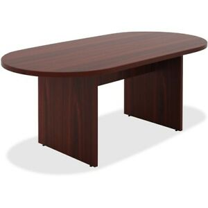 """Lorell Chateau Series Mahogany 6' Oval Conference Table - 70.9"""" x 35.4"""" x"""