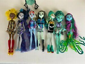 Lot-of-7-Monster-High-Dolls-Frankeinstein-Accessories