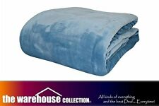 ODYSSEY QUEEN KING MOODY BLUE SUPER SOFT LOUNGE SOFA THROW RUG BLANKET 240x260