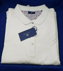 new concept 5e3ca 18656 Details zu GANT Poloshirt Kurzarm Damen Polo Shirt Kurz Polokragen Kragen  Weiß Größe XXL