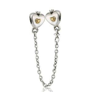 04423e65ce Originale Charm Argento S925 Beads Golden color Heart & Crown Safety ...