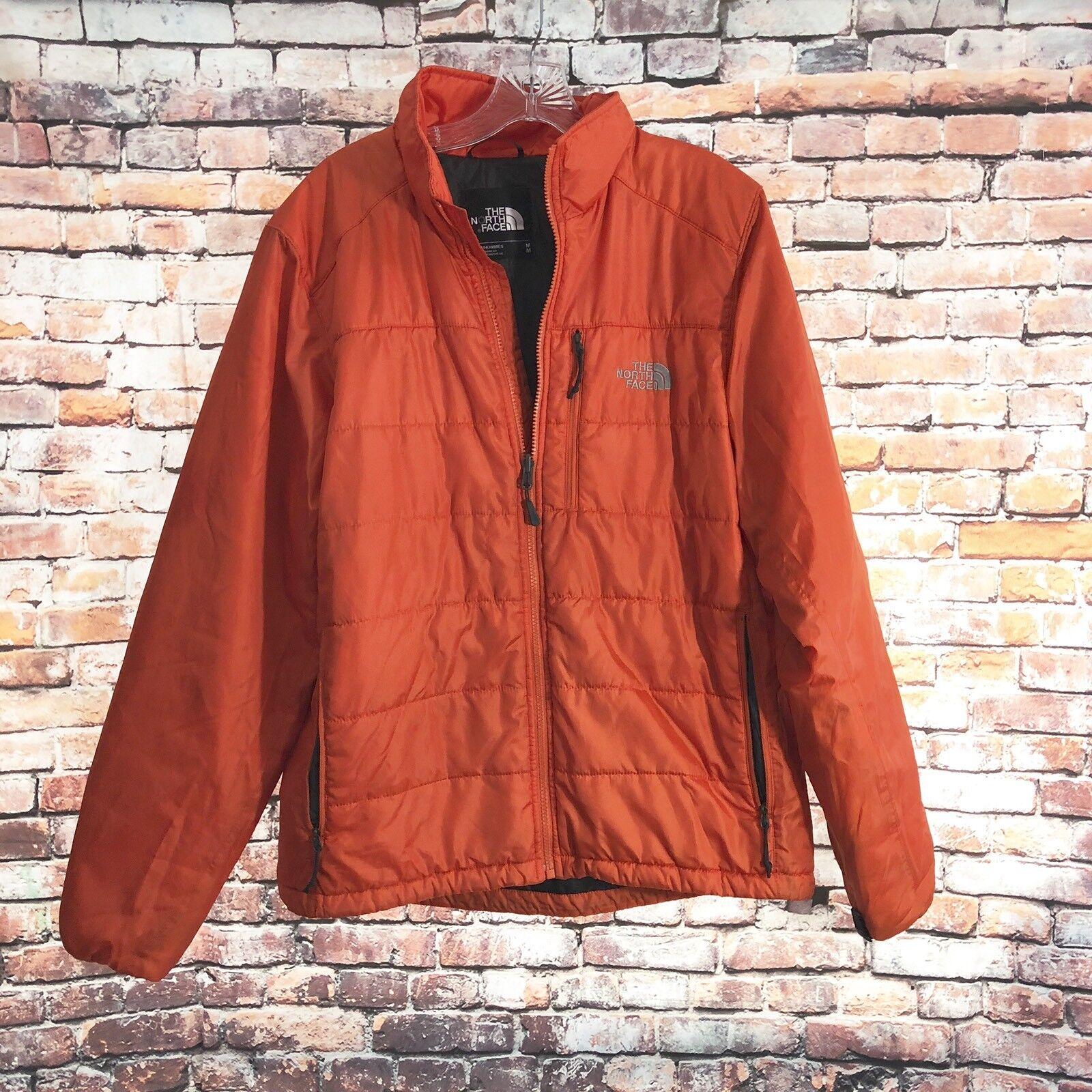 North Face Men's Puffer Coat orange Medium