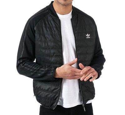 Adidas Originals SST Quilted Jacket Black, Mens, 3 Stripes