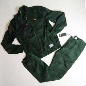 Le-Tigre-men-2p-set-100-AUTHENTIC-Track-Jacket-amp-Pants-size-Medium-green