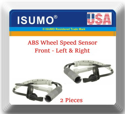 2 ABS Wheel Speed Sensor Front Left /& Right Fits:128 135 323 325 328 330 335