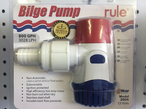 Rule-Submersible-800-12V-GPH-Electric-Bilge-or-Bait-Pump-Latest-Next-Generation