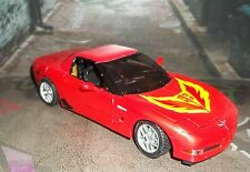 TRANSFORMERS ALTERNATORS SWERVE RED CHEVY CORVETTE WITH HOOD FLAME STICKER