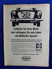 Mobil Mobiloil Special - Werbeanzeige Reklame Advertisement 1963 __ (691