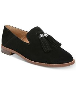 1169ca7c5ab New! Franco Sarto Hadden Women s Black Suede Tassel Loafers - Size ...