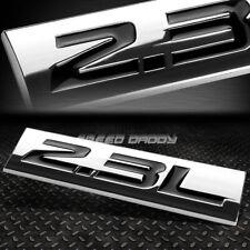 Black//Chrome 4.6L Sign Turbo V8 Sport Engine Emblem Decal Plate Metal Badge