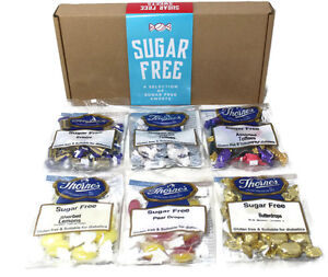 Sugar free sweets hamper gift box diabetic treats 6 x 100g bags image is loading sugar free sweets hamper gift box diabetic treats negle Images