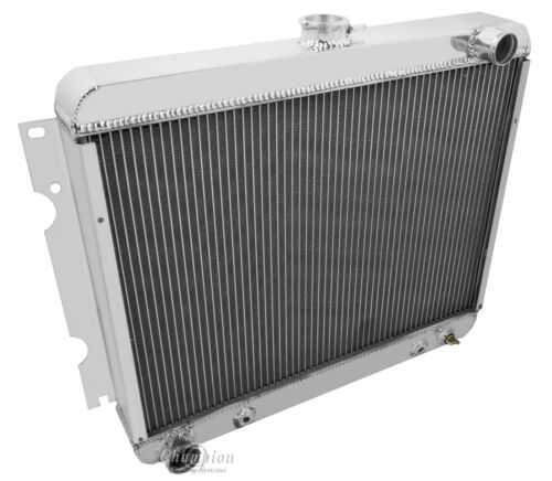 """2 Row 1/"""" Discount Radiator W// 16/"""" Fan for 1970-1972 Dodge Charger Big Block V8"""