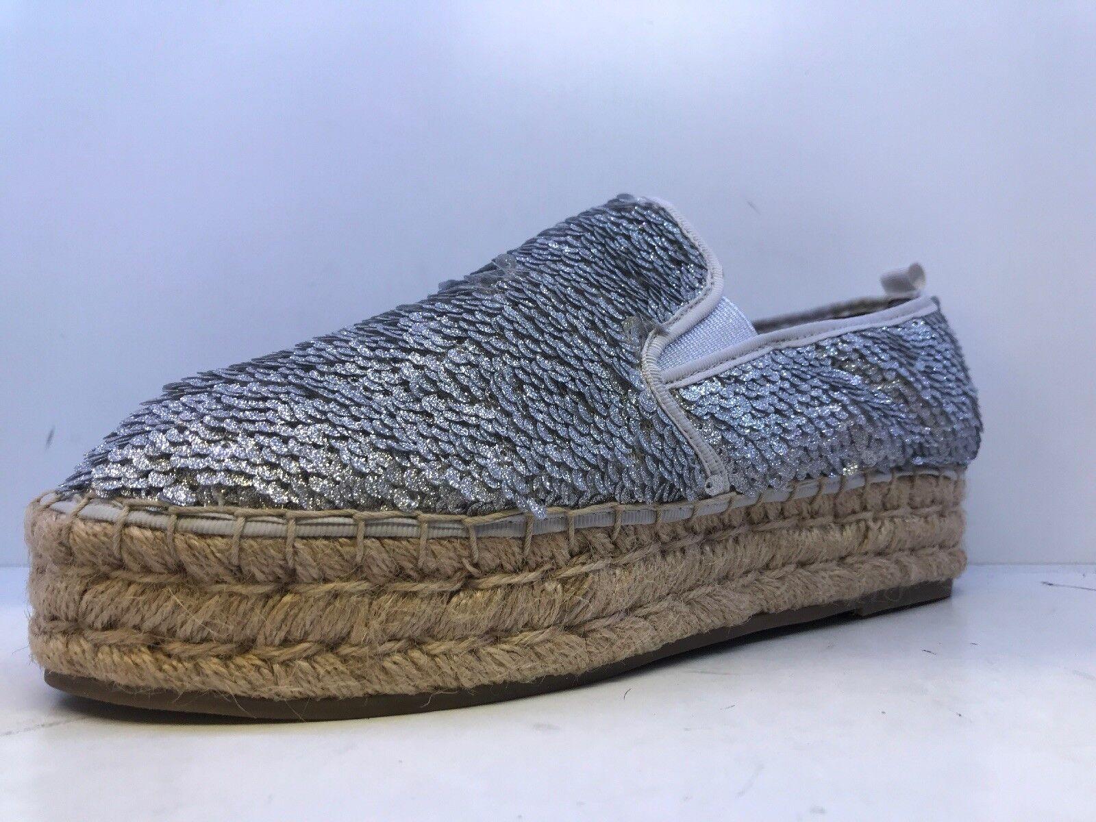 7426a56a864f8f Steve Madden Poppi Femmes argent pailletées Espadrilles Chaussures UK  Taille Taille Taille 6 | Jolie Et Colorée 21c9a3
