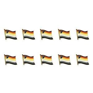 Detalles de Lote de 10 Bear Orgullo Pin Broche Bandera 0.5