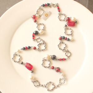 New-Premier-Designs-Beads-Single-Strand-Necklace-Gift-Vintage-Lady-Party-Jewelry
