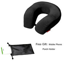 U Shape Memory Foam Neck Support Head Rest Black Travel Pillow Cushion  + 1 Gift