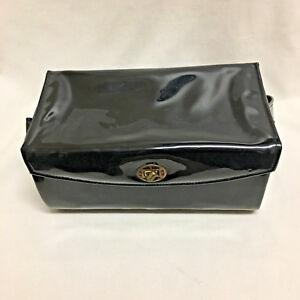 548873d8850 Image is loading Vintage-Vinyl-Box-Purse-Black-Faux-Patent-Leather-