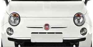 FIAT-500-fregio-stemma-baffi-modanatura-anteriore-coppia-dx-sx-badge-cromati