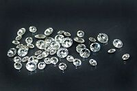 Diamond Shape Gem Rhineston Crystal Clear Foiled Loose Beads Round/square 12pcs