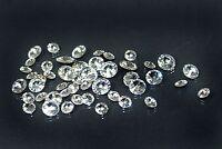Diamond Shape Gem Rhineston Crystal Clear Foiled Loose Beads Round/square 12pcs
