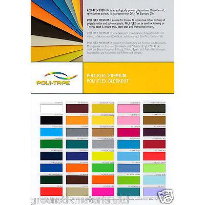 Premium T Shirt Garment Vinyl Poli Flex Heat Press Transfer Textile Film A4 roll