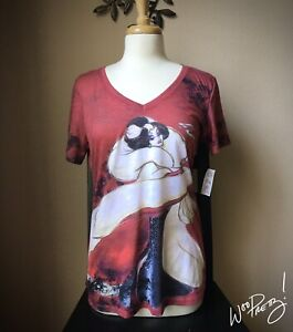 2012 Disney Designer Villain Dolls CRUELLA DE VIL Fashion Tee Shirt NWT Size XL