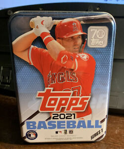 2021 Topps Series 1 One EMPTY Tin Mike Trout - Angels - Storage / Collectible