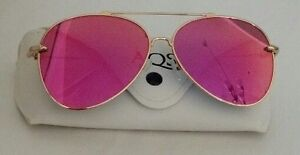 f6ef9c52ce7 Image is loading AQS-Tommie-Aviator-Unisex-Sunglasses-Hot-Pink