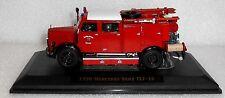 Vintage 1950 Red Fire Brigade Engine Truck Mercedes Model Miniature Toy
