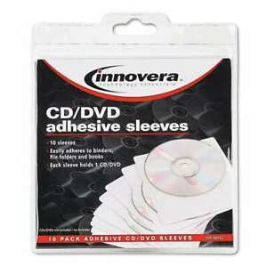 Innovera-Self-Adhesive-CD-DVD-Sleeves-10Per-Pack