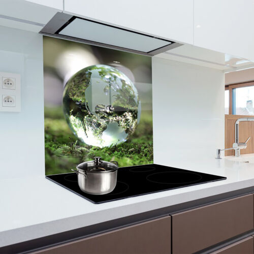 Glass Splashback Kitchen Printed Panel Heat Resistant Toughened Glass 60x65cm