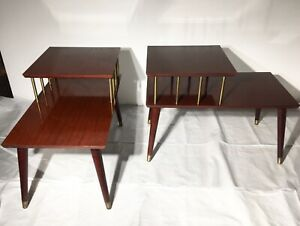 Mid-Century-Tiered-End-Tables