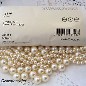 63a98d16cec0 Image is loading Swarovski-Crystal-Pearls-5810-Cream-FACTORY-PACKS-or-