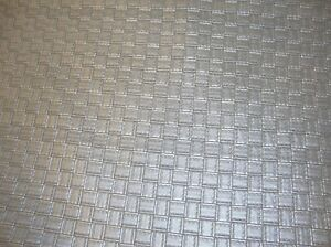 Vinyl Faux Leather Upholstery Fabric Large Metallic Basket