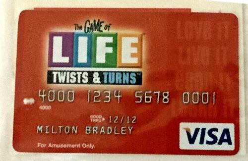 2007 Jogo Da Vida reviravoltas /& transforma cartões de crédito-Individual