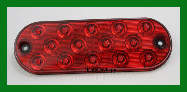 Maxxima M63350R 14 LED Red Oval Ultra-Thin 0.4 Low Profile Stop//Tail//Turn Light