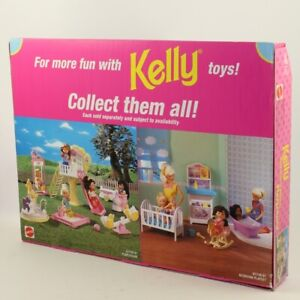Mattel-Barbie-Doll-1998-Kelly-Baby-Sister-of-Barbie-Playground-Set-NON-MINT