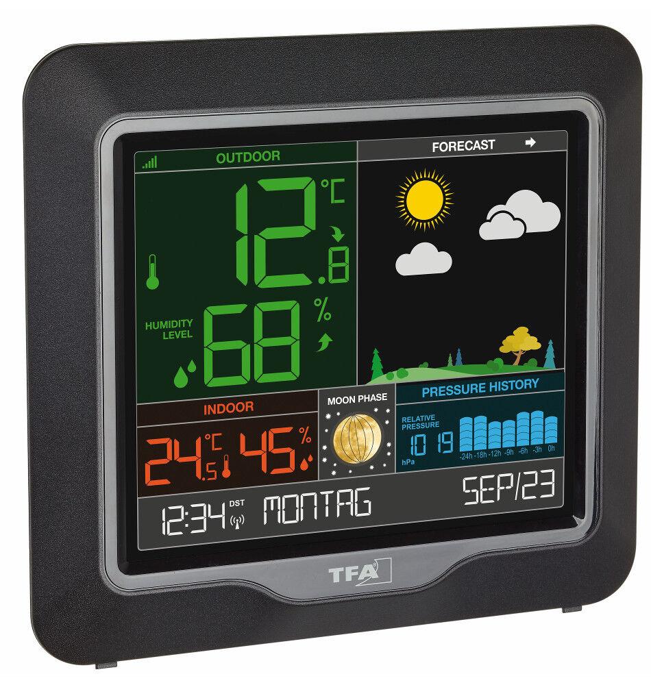 Radio Estación Meteorológica Temporada Tfa 35.1150.01 Pantalla Color Fases de la