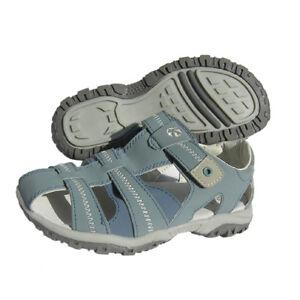 Kinder-Jungen-Maedchen-Sandale-Trekkingsandale-Spielschuhe-Leder-Ledersohle-neu