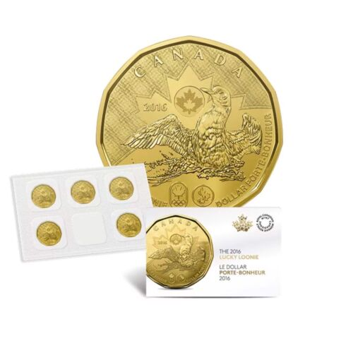 x 1 5-loonies 2016 LUCKY LOONIE COIN PACK for the Rio 2016 Olympic