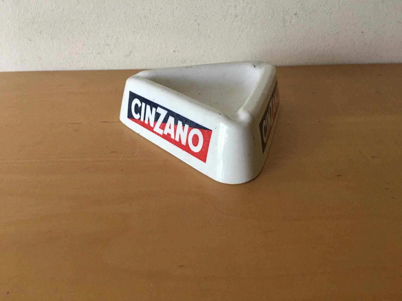 Gebraucht - Vintage Aschenbecher CINZANO - Weiß plastic Weiß -