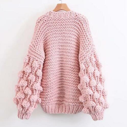 fashion ladies thick wool Cardigan sweater loose causal knitted cardigan tops