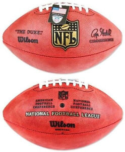 89738e6b000 Official Wilson NFL The Duke Football On Field Game Ball Authentic ...