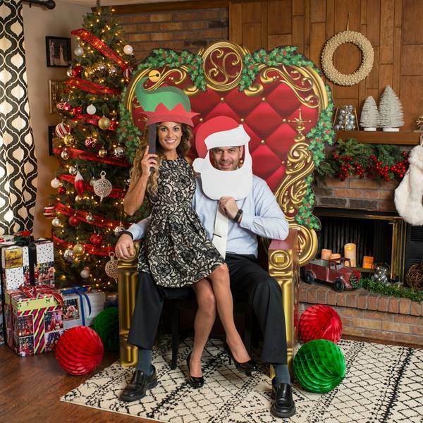 Santa's Throne Photo Prop  rouge and or photo prop Standee