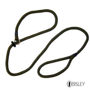 Bisley Basique 5ft Matte Vert Chien Câble - Sur Tête à Enfiler Les Clients D'Abord