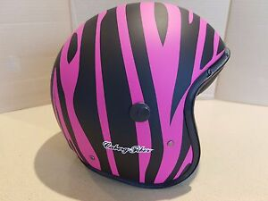 Caberg-Jet-Freeride-marty-Motorcycle-Bike-Open-Face-matt-pink-black-Helmet-D45